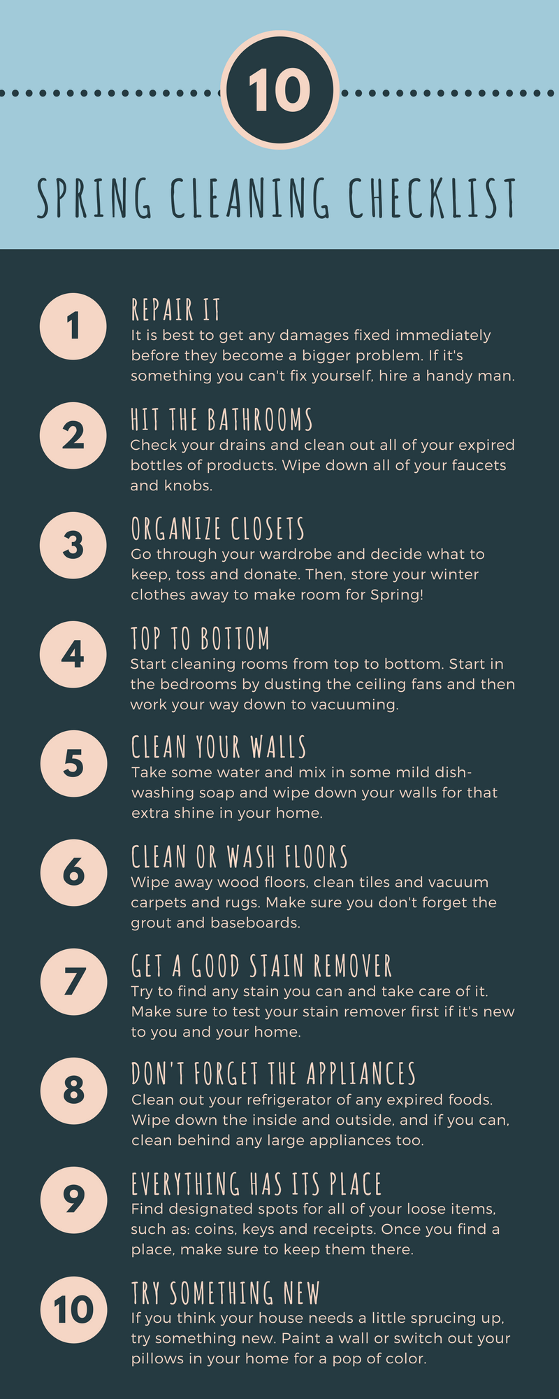 Spring Cleaning Checklist 1 Ameritex Houston Movers