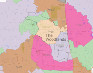 Greater Houston Area Zip Code Map.The Woodlands Zip Code Maps Ameritex Houston Movers